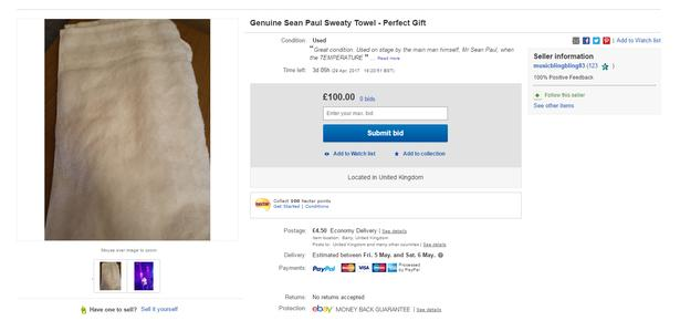 Sean Paul Towel on eBay