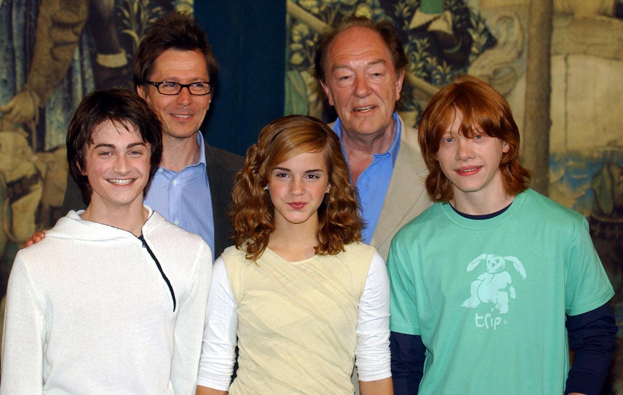 Daniel Radcliffe, Gary Oldman, Emma Watson, Michael Gambon, Rupert Grint Harry Potter Photocall