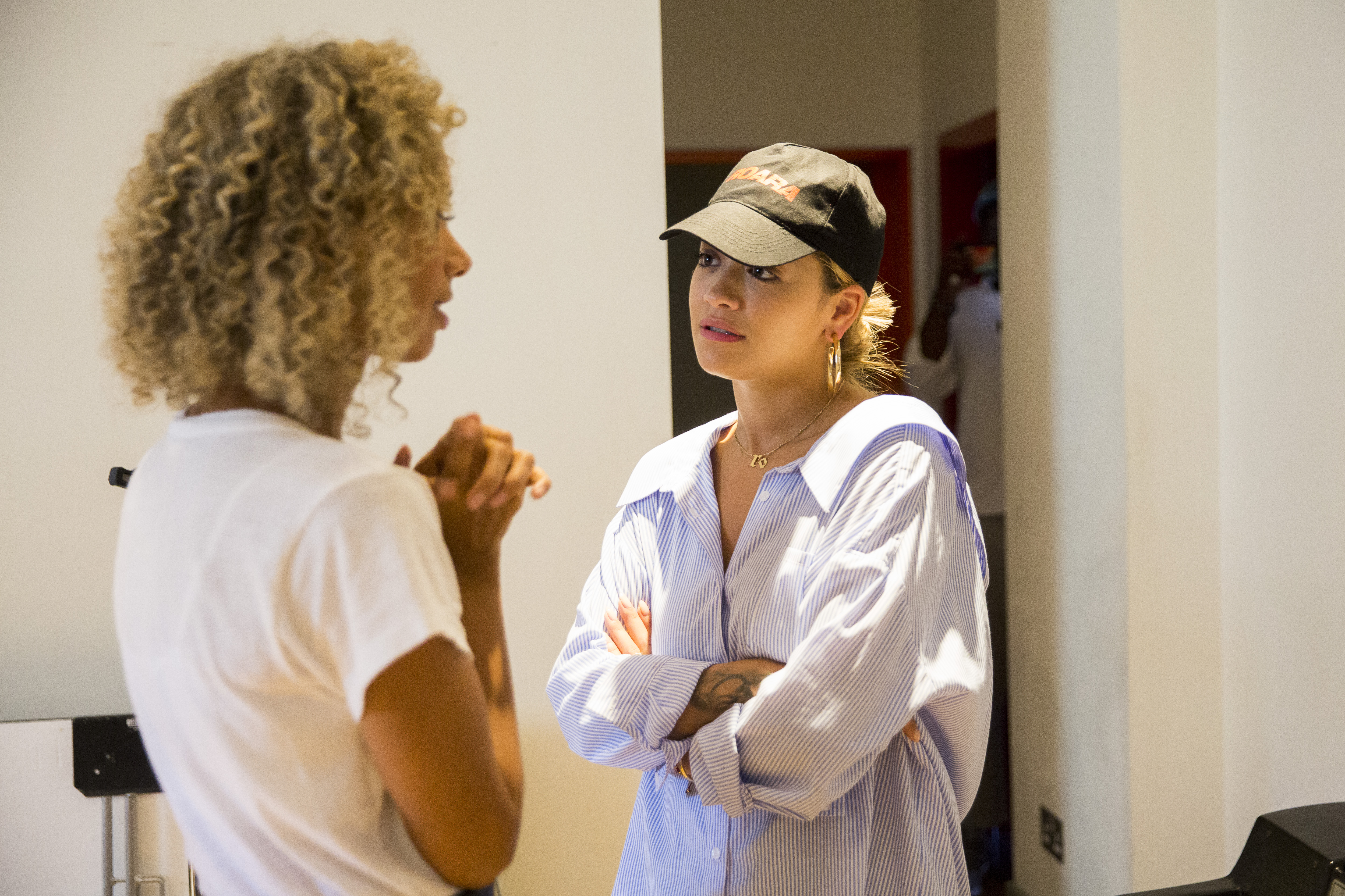 Grenfell Behind the scenes Rita Ora and Leona Lewi