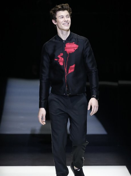 Shawn Mendes walks the Versace catwalk