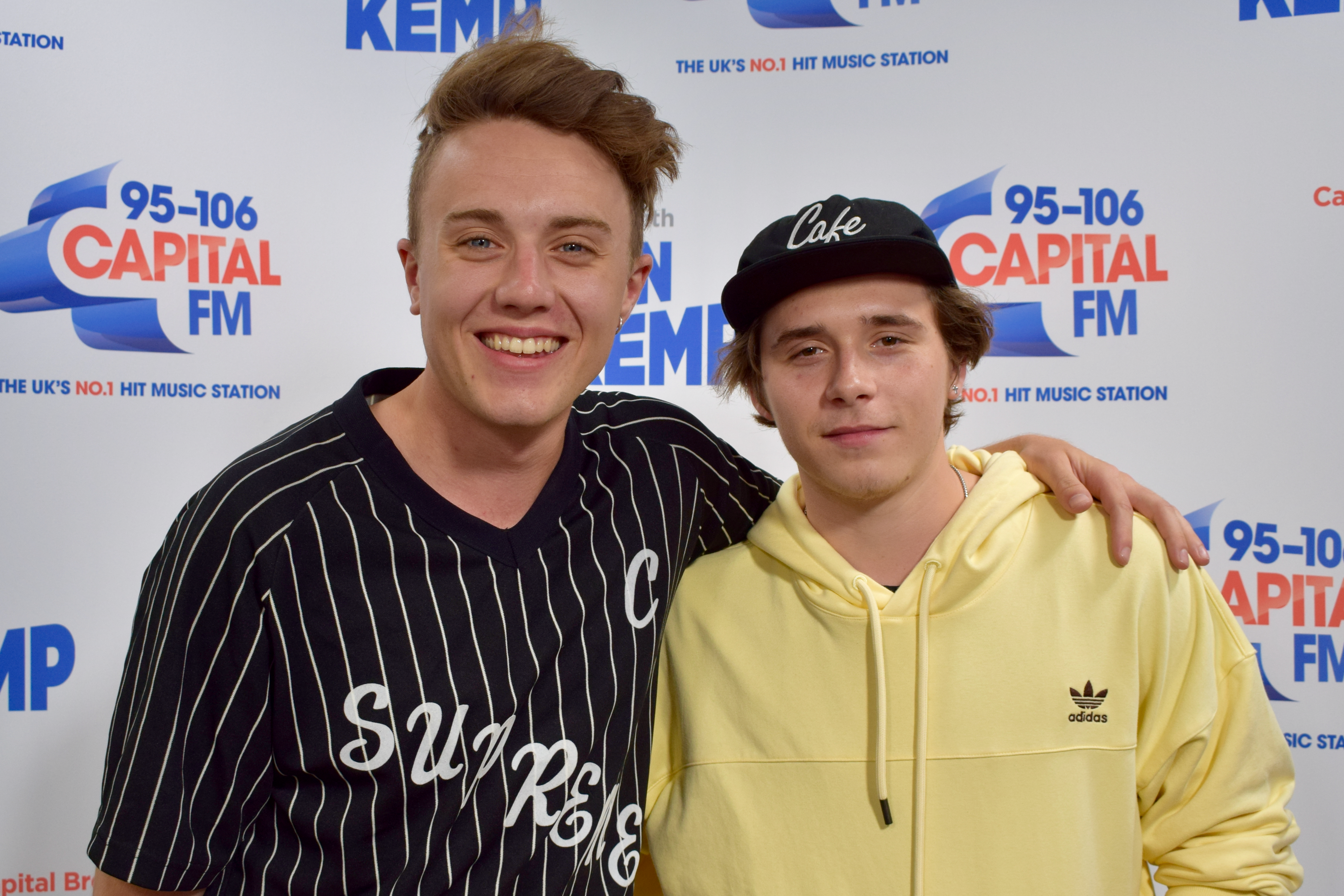 Brooklyn Beckham with Roman Kemp