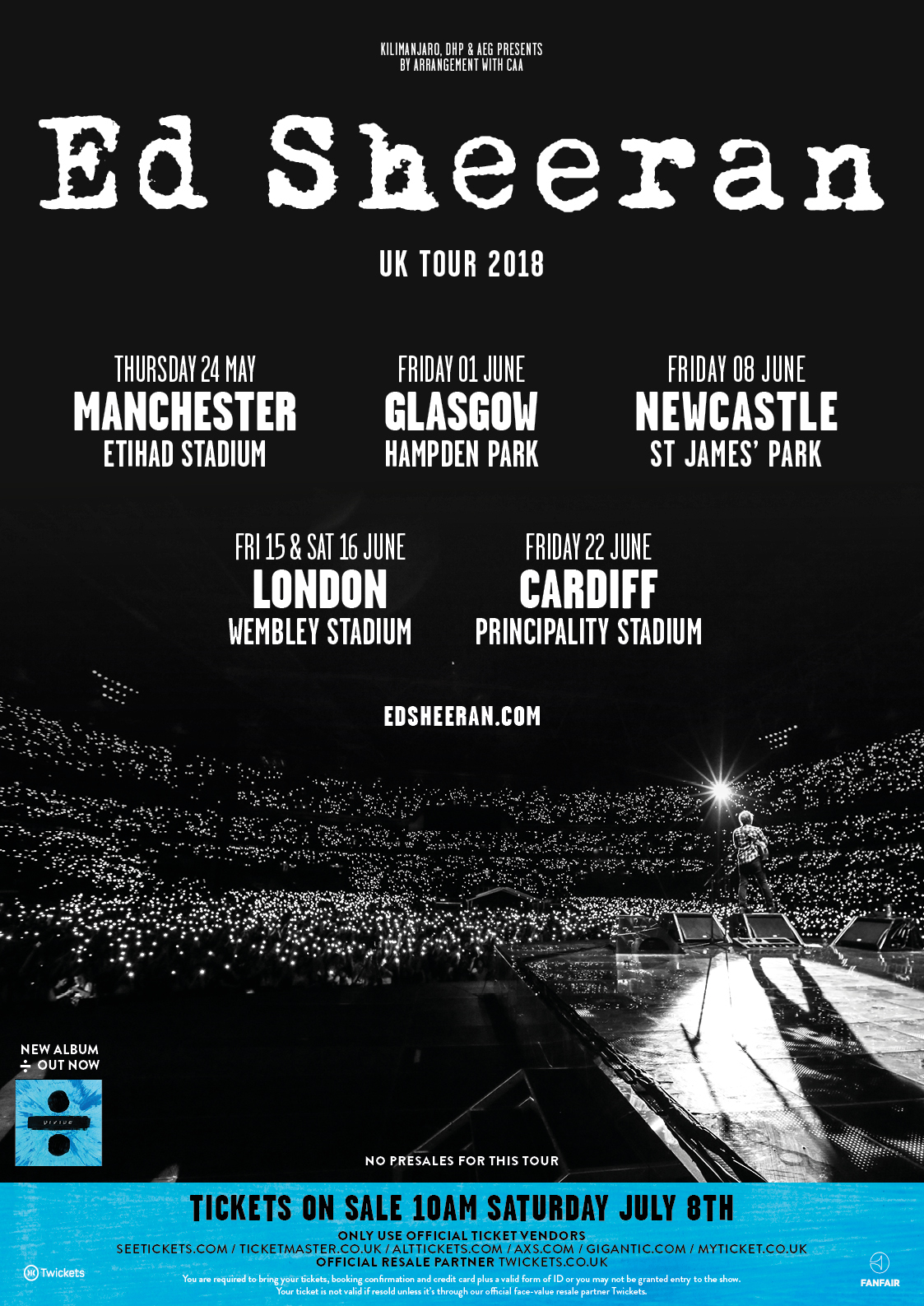 Ed Sheeran UK Stadium Tour
