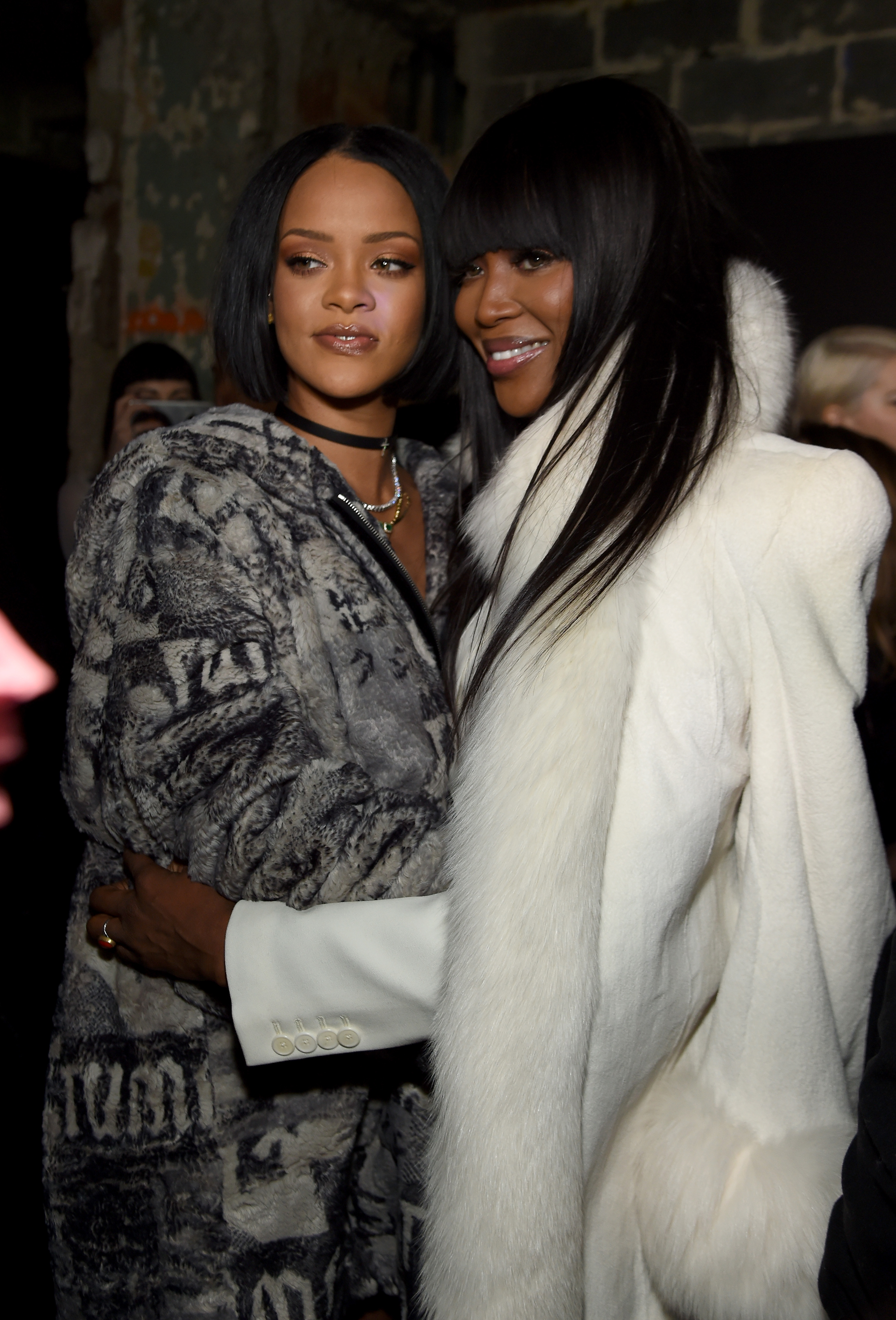 Rihanna and Naomi Campbell