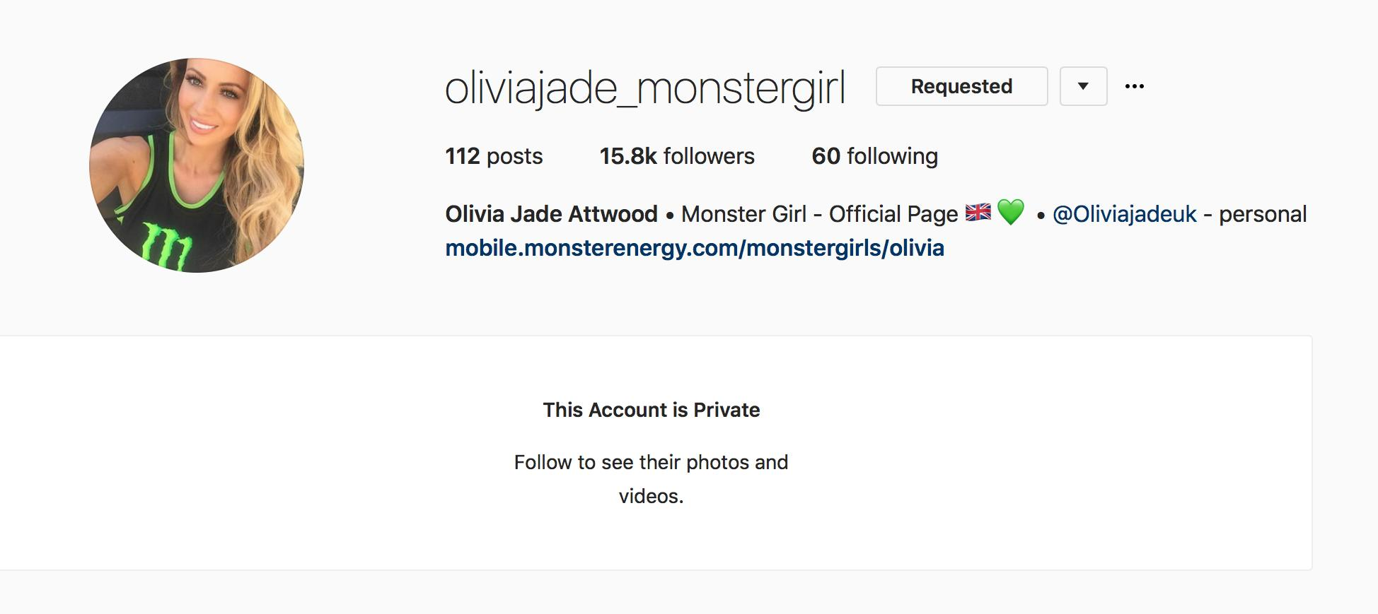 Olivia Monster Girl Instagram