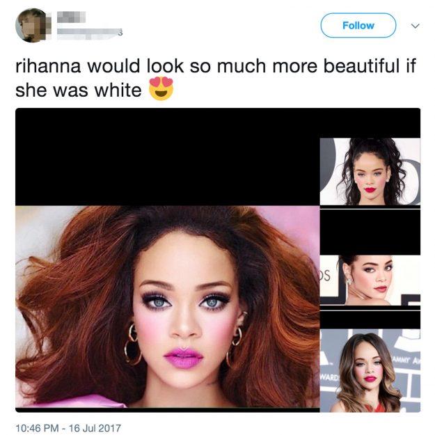 Rihanna Racist Tweet
