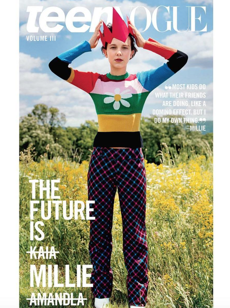 Millie Bobby Brown on the cover of Teen Vogue