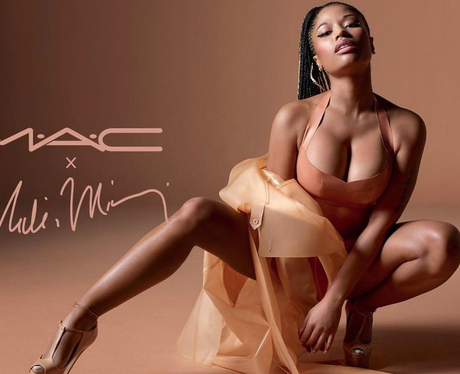 Nicki Minaj's new nude lipstick for MAC