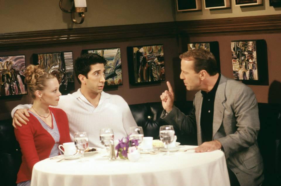 Bruce Willis and David Schwimmer in 'Friends'
