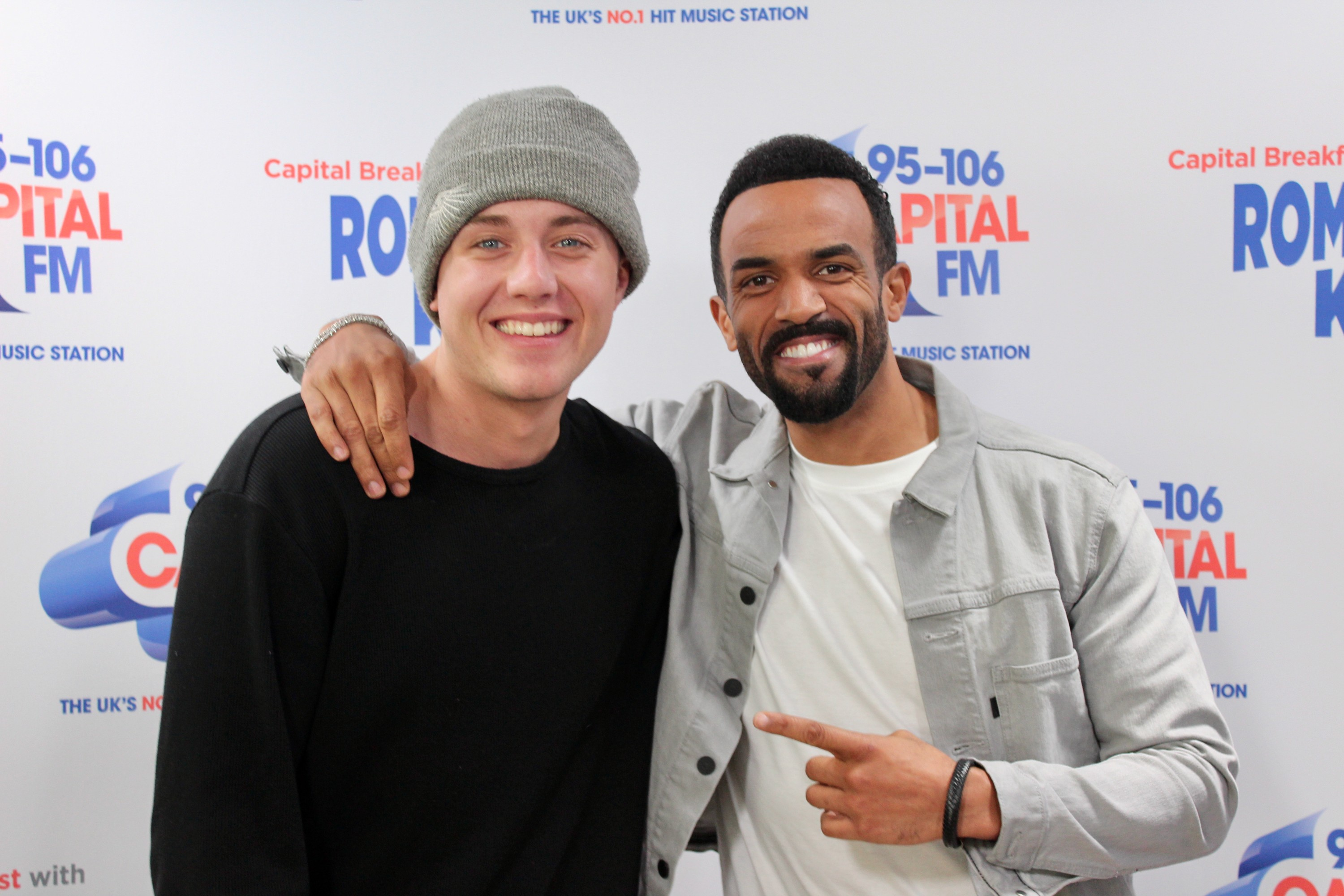 Craig David with Capital Breakfast with Roman Kemp