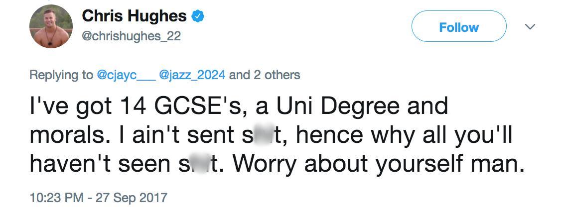 Chris Hughes Tweet