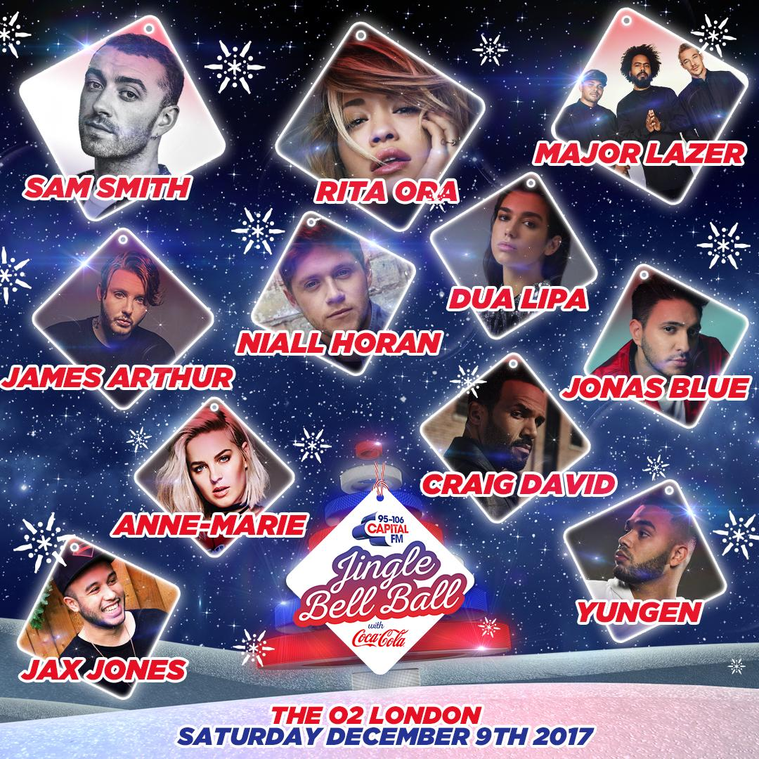 Saturday Jingle Bell Ball 2017 Line-up Poster