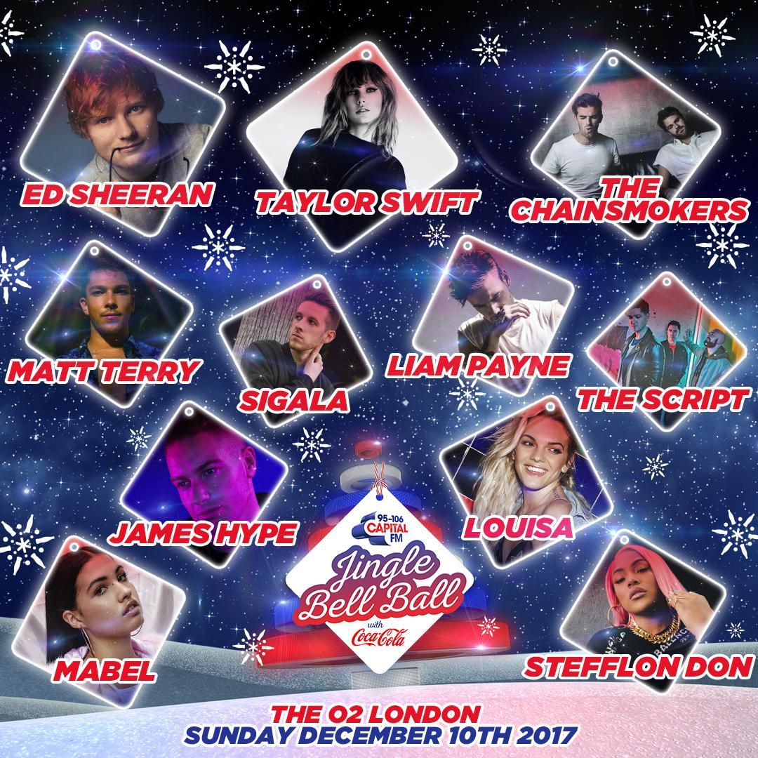Sunday Jingle Bell Ball 2017 Line-up Poster