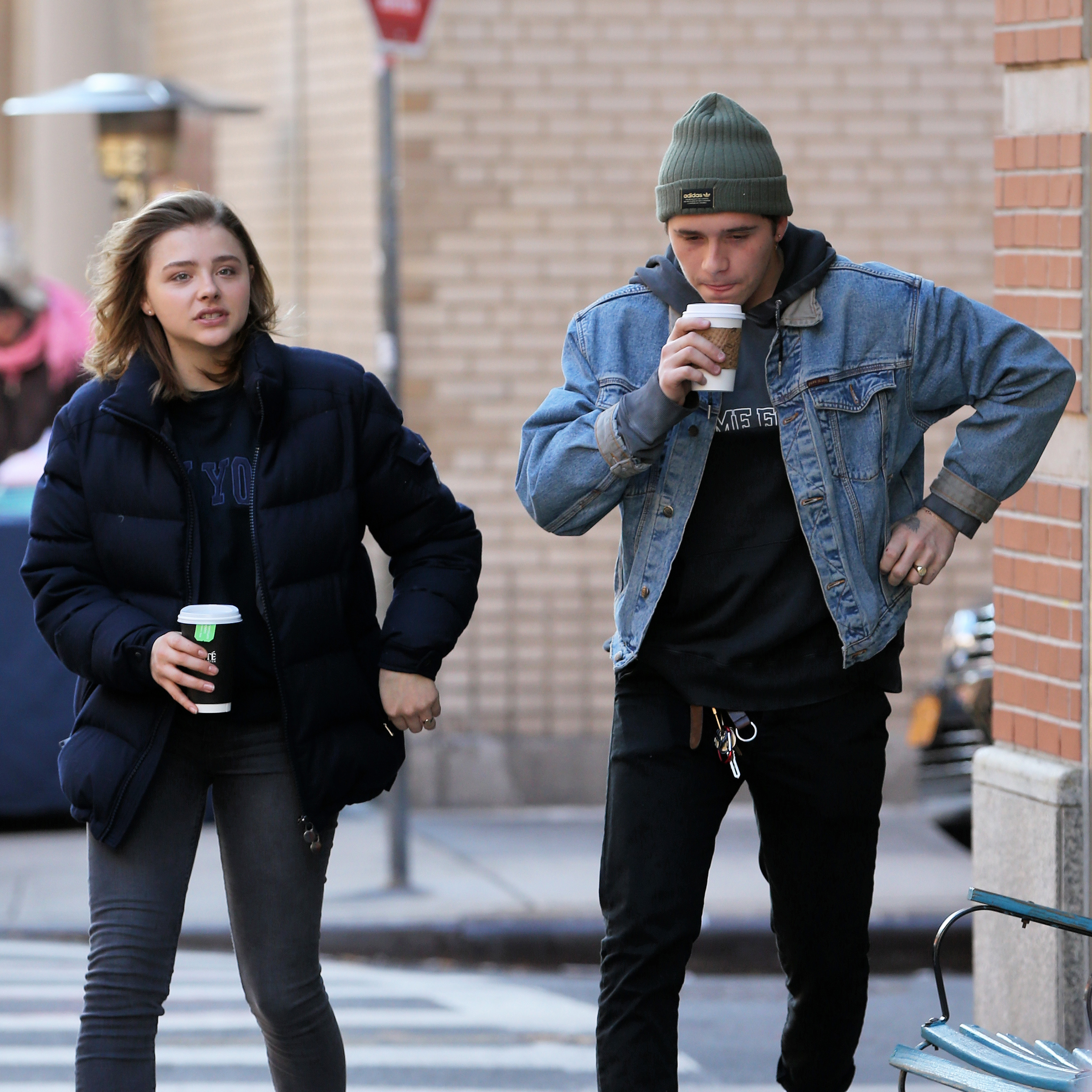Chloe Moretz and Brooklyn Beckham wearing matching