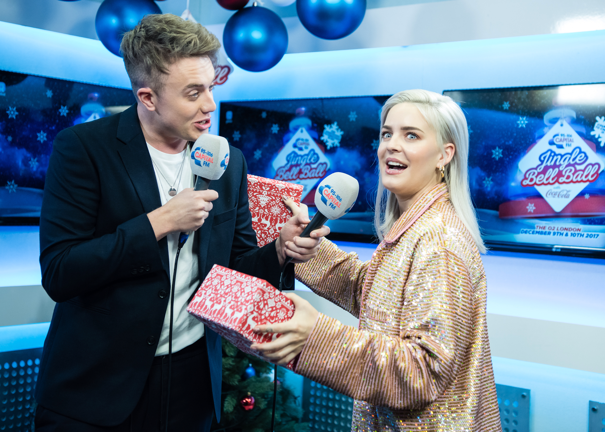 Anne-Marie with Roman Kemp
