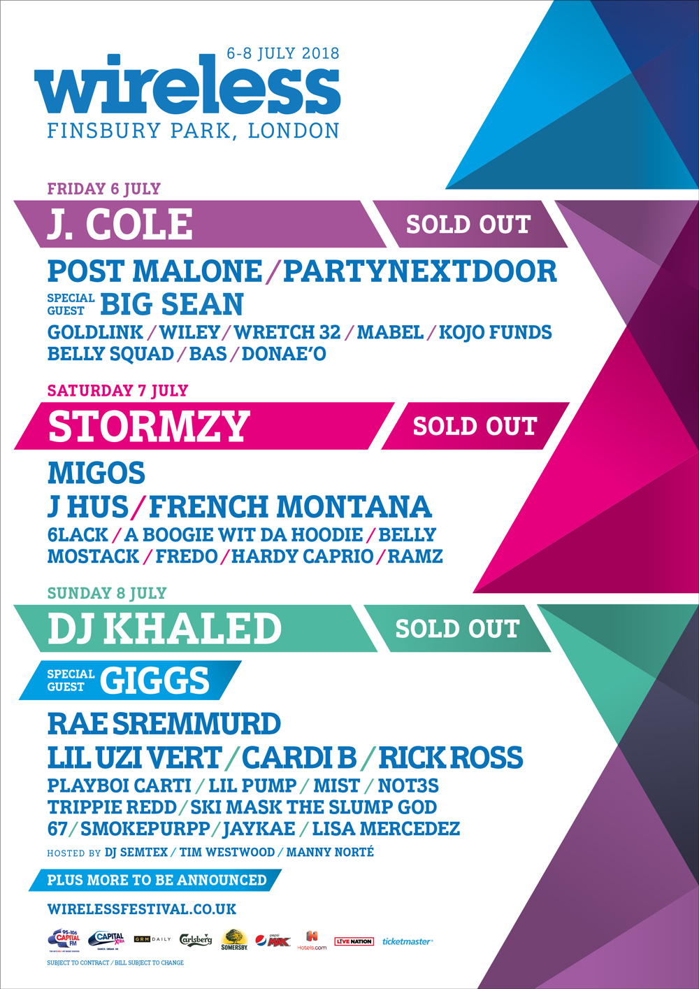 Wireless Festival 2018 Sold Out