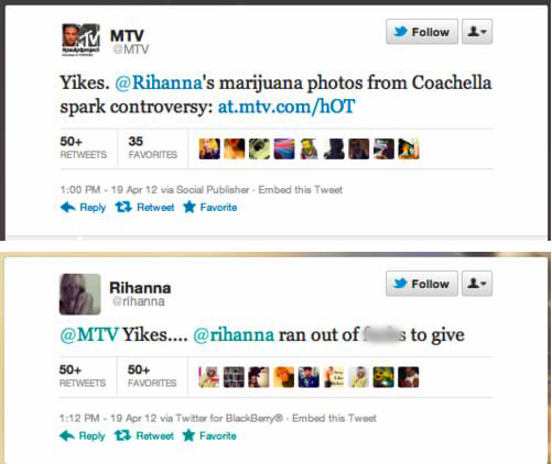 Rihanna Clapping Back