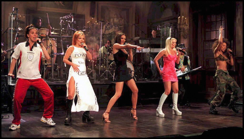 Spice Girls perform at  'Saturday Night Live' in N