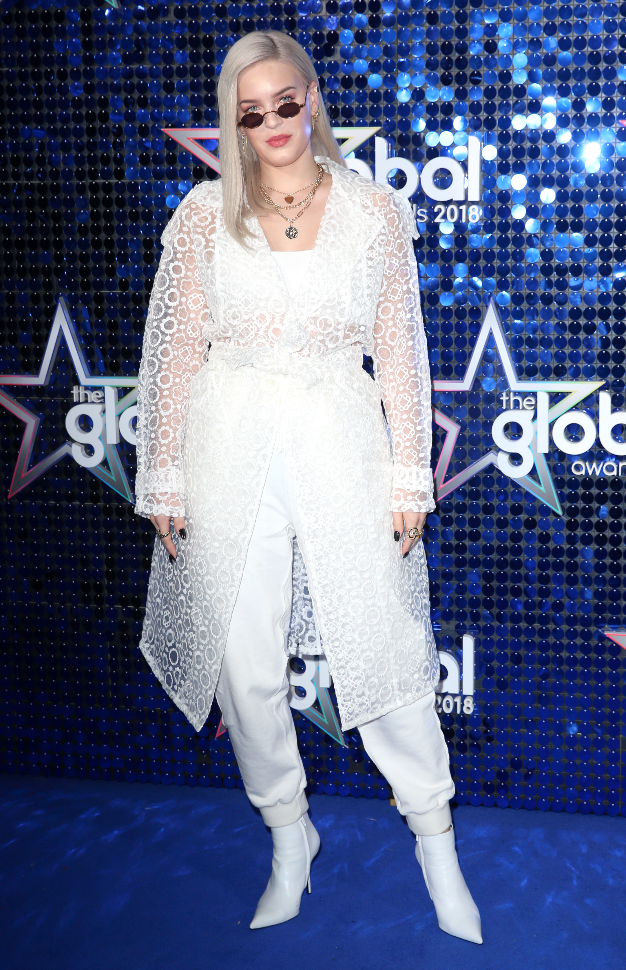 Anne-Marie Global Awards 2018 blue carpet