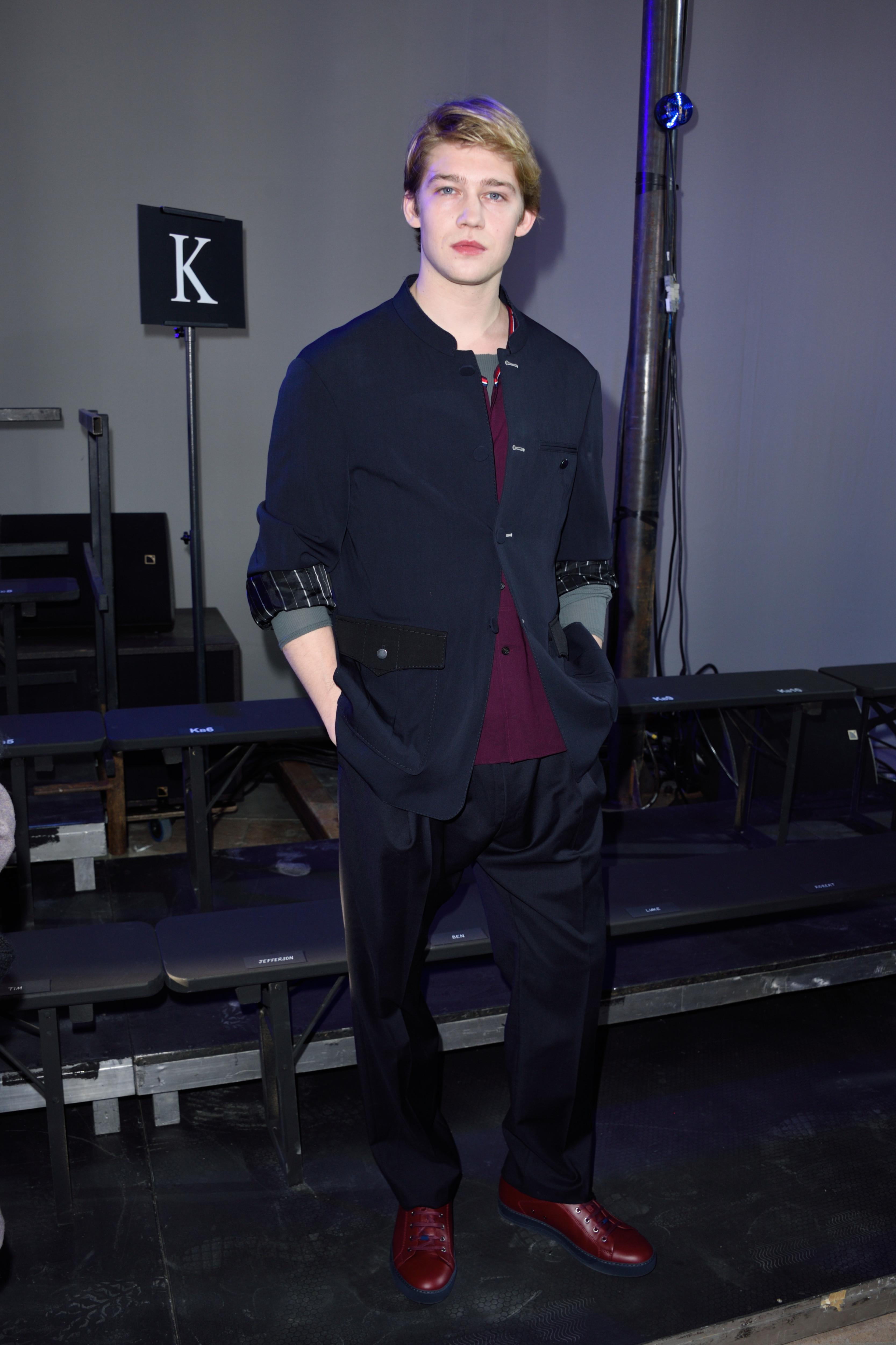 Joe Alwyn at Paris Fashion Week 2017
