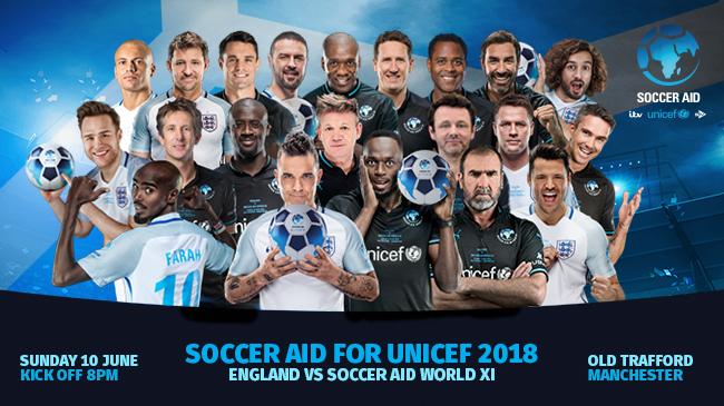 Soccer Aid 2018 Eric Cantona