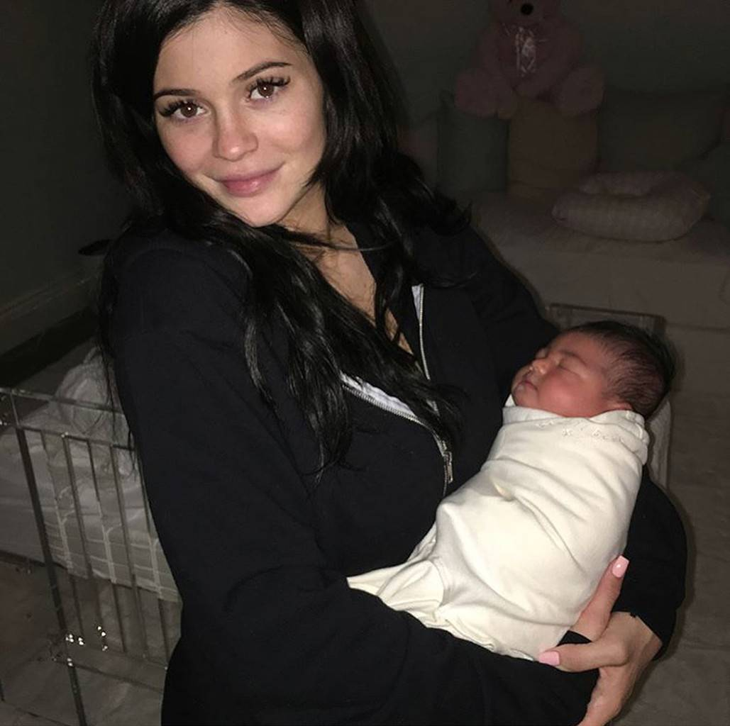 Kylie Jenner and Stormi Post