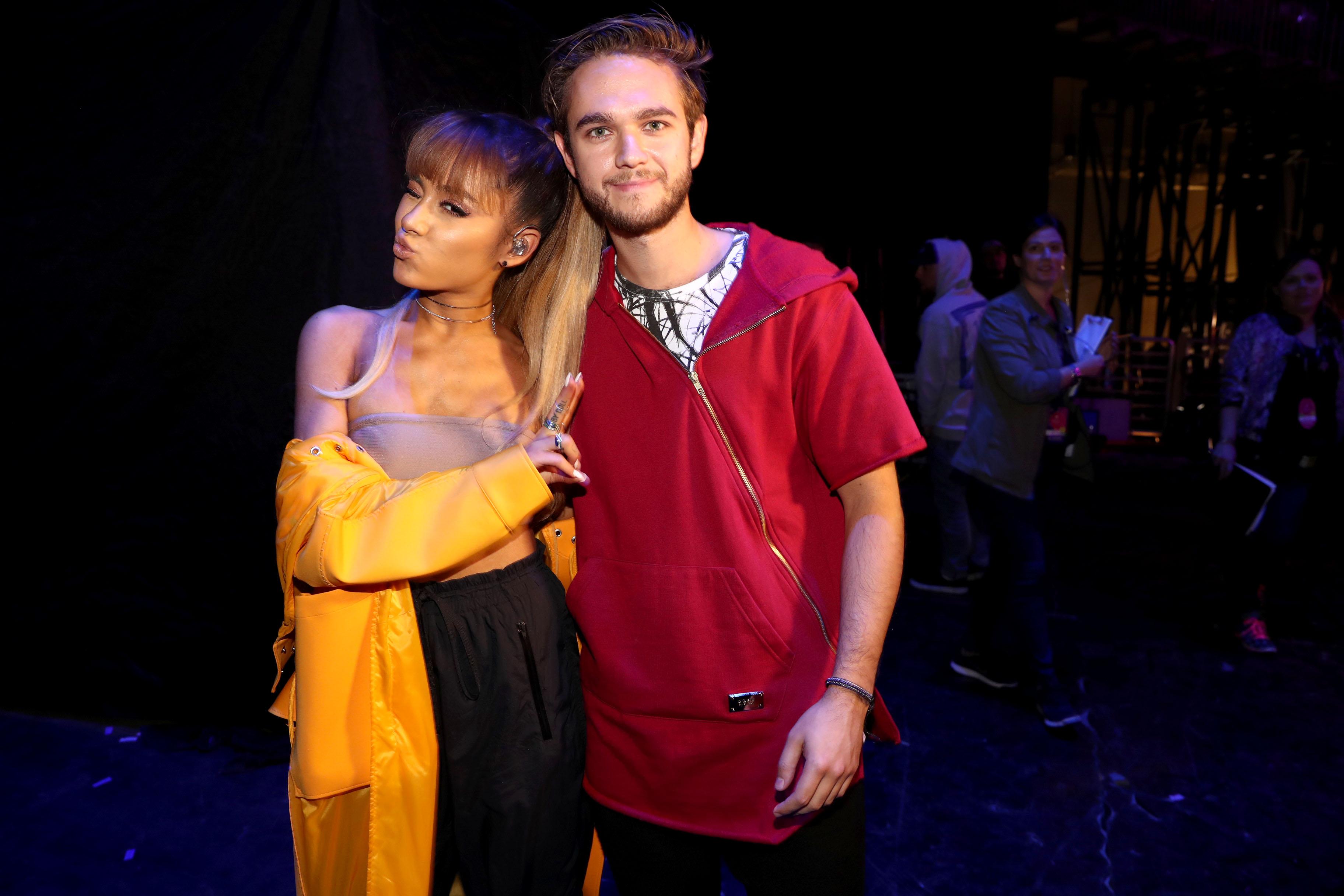 Ariana Grande & Zedd perfoprm at the 2016 iHeartRa