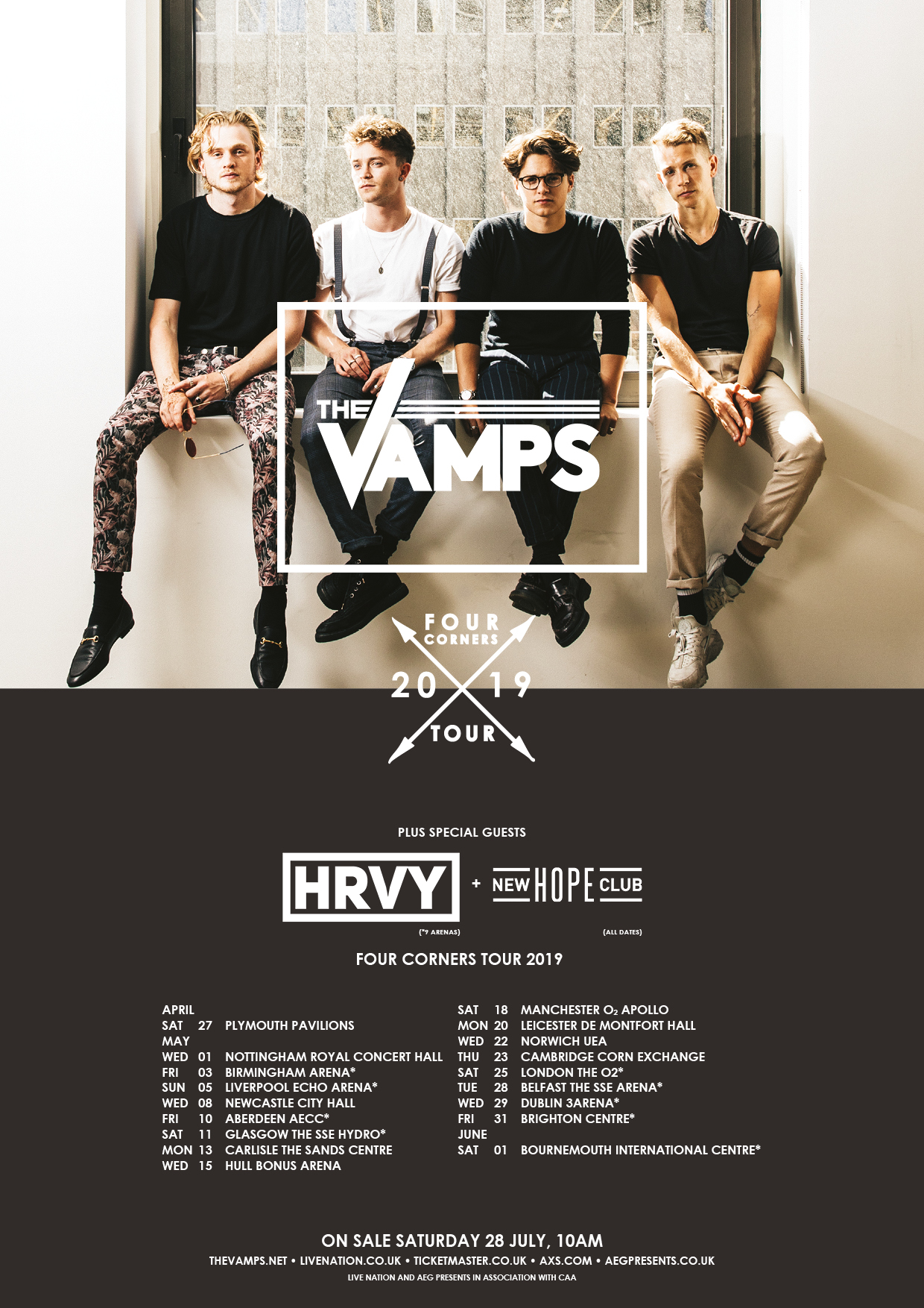 The Vamps UK 2019 Tour Dates