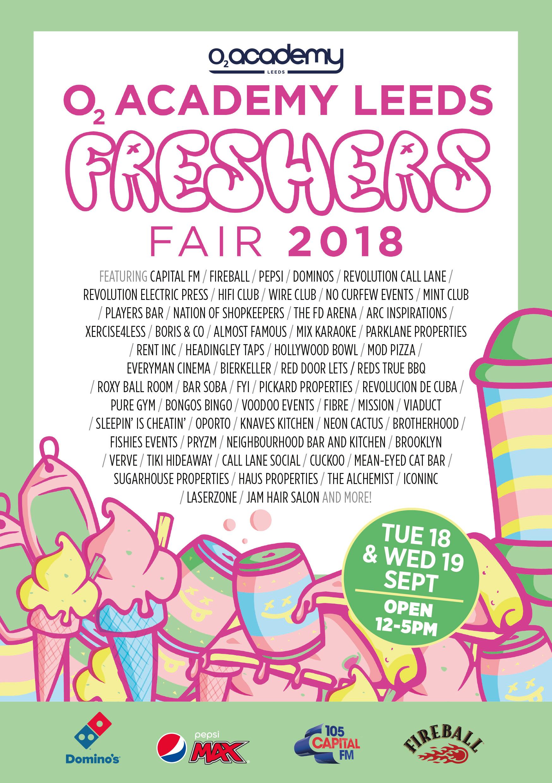 O2 Academy Leeds Freshers Fair 2018