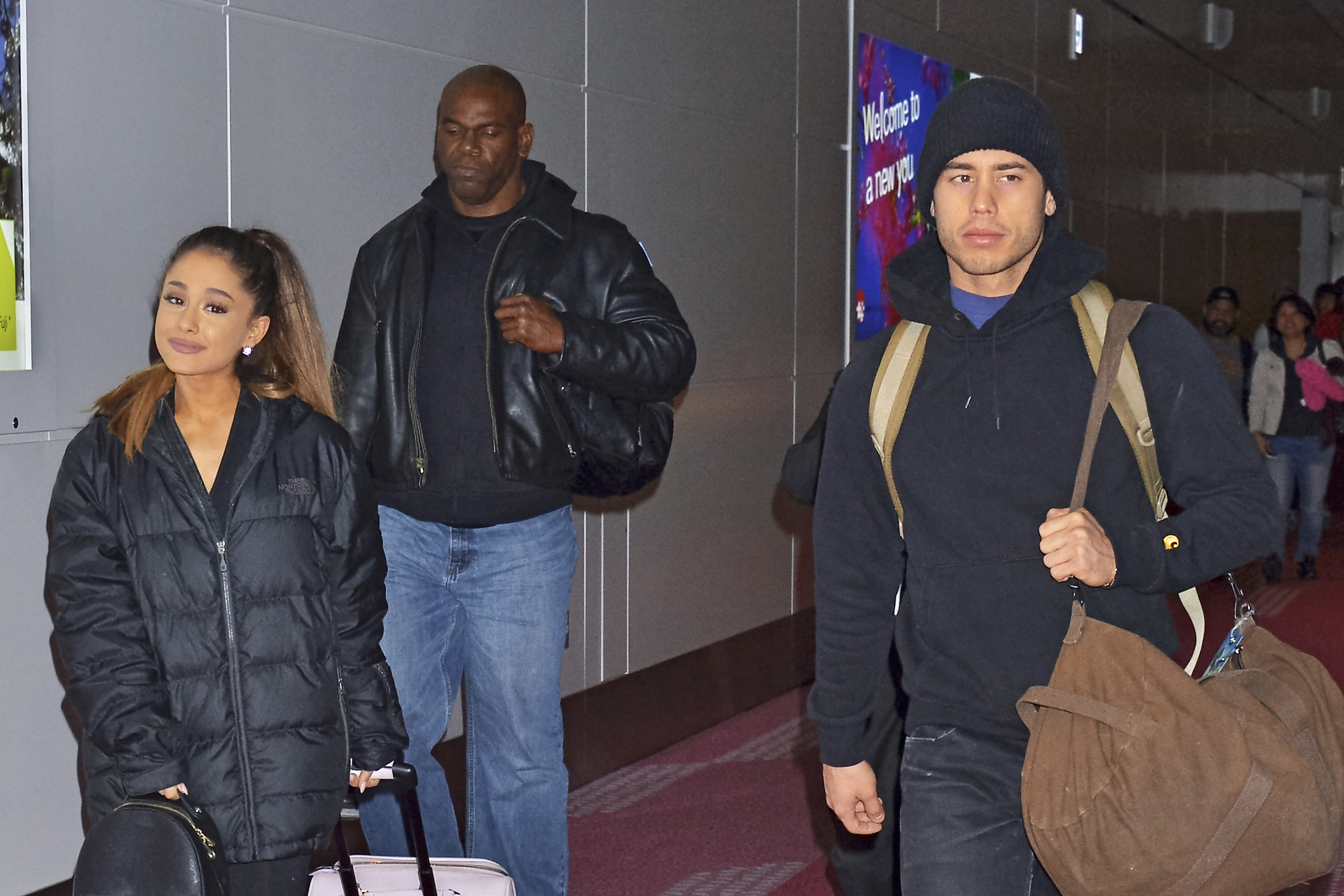 Ariana Grande with boyfriend Ricky Alvarez