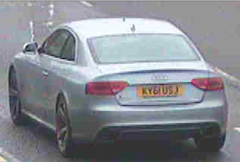 Portland Tiara theft - Nottinghamshire - Audi geta