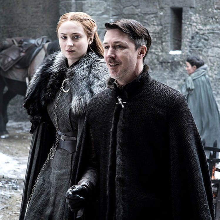 Sansa Stark and Petyr Baelish on Game of Thrones