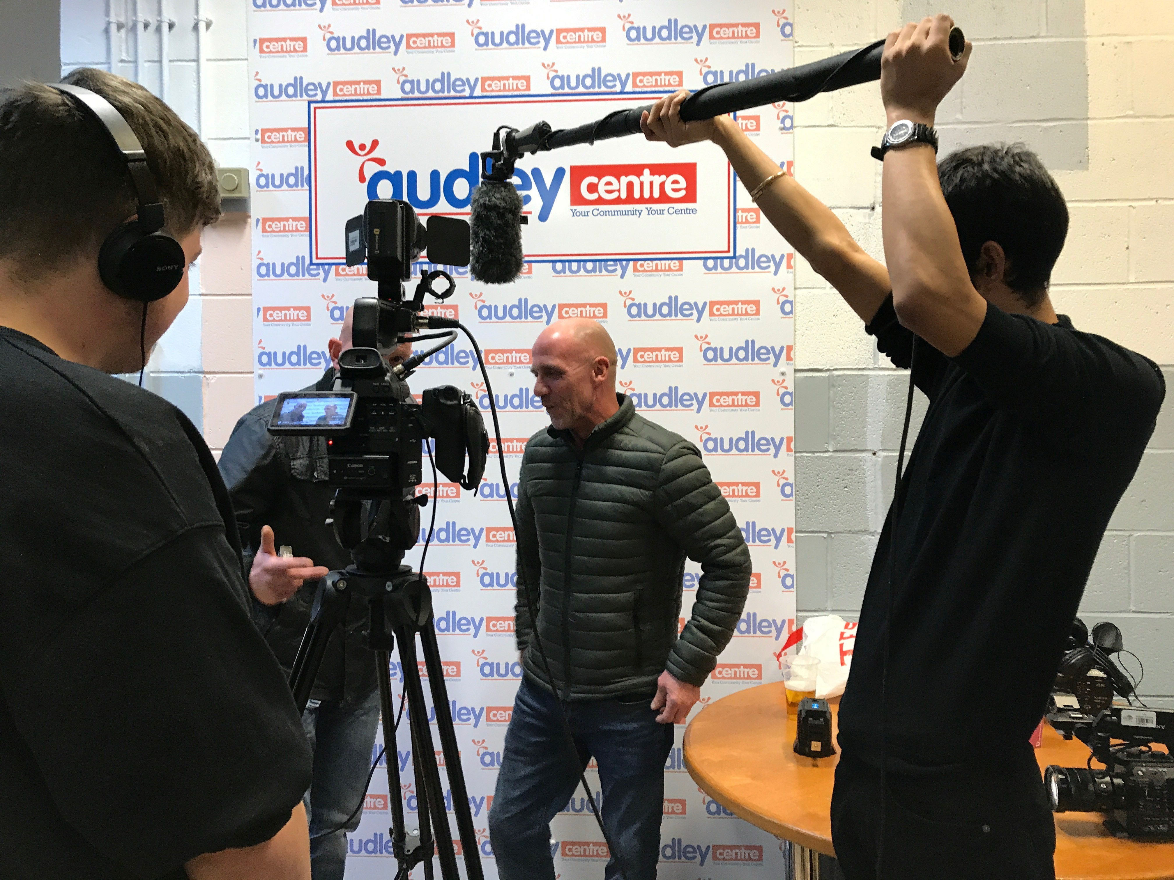 Students from UCLAN filming knife-crime video in B