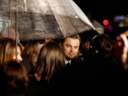 Leonardo DiCaprio in Leicester Square