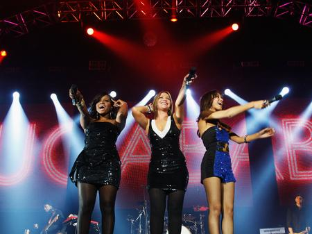 Sugababes live at the Jingle Bell Ball