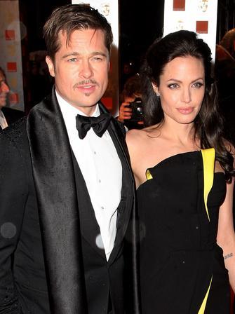 Brad Pitt and Angelina Jolie at the BAFTAs
