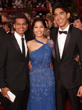 Dev Patel, Frieda Pinto and Madhur Mittal at The O