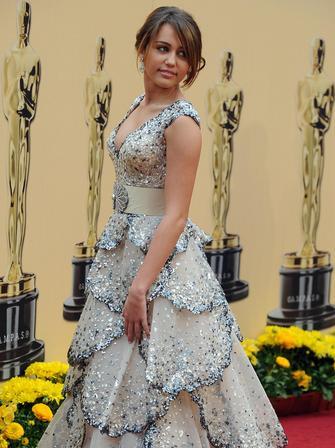 Miley Cyrus at The Oscars 2009