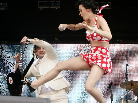 Katy Perry on stage at the Summertime Ball