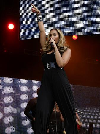 On stage with Leona Lewis