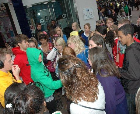 JLS fans surround Capital FM studios