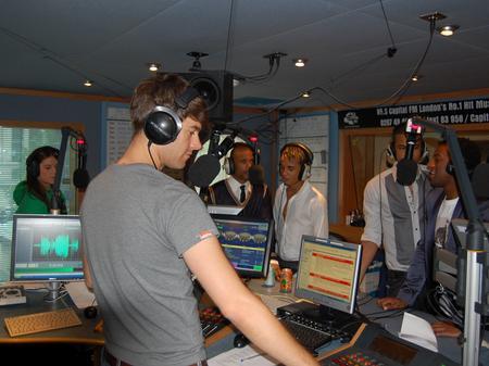 JLS in the Capital studios
