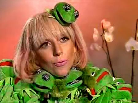 Lady Gaga's Kermit outfit