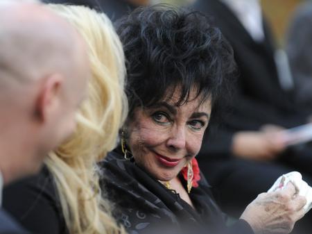 Actress Elizabeth Taylor attends Michael Jackson's