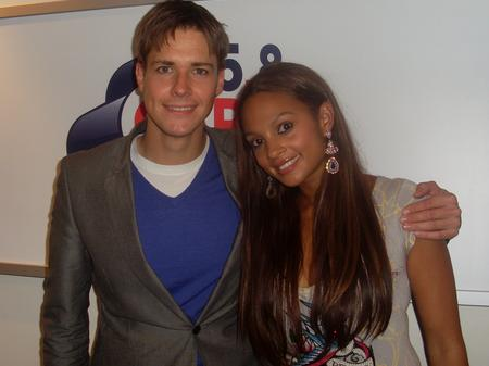 Kevin Hughes with Alesha Dixon