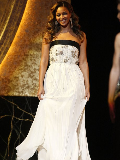 Beyonce in white dress