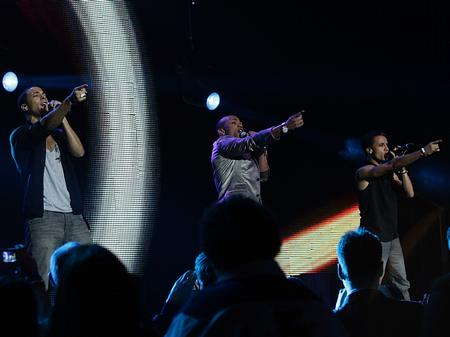 JLS on stage at the Jingle Bell Ball