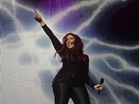Jordin Sparks on stage at the Jingle Bell Ball