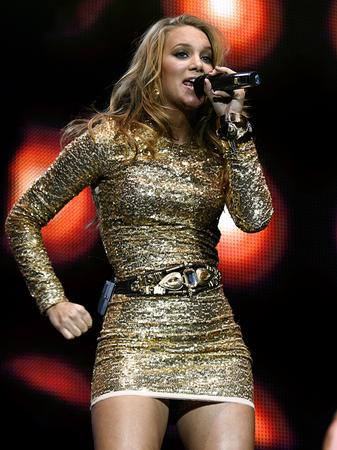 Agnes on stage at the Jingle Bell Ball