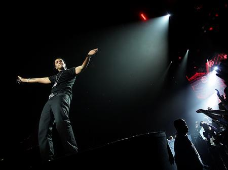 Chipmunk on stage at the Jingle Bell Ball