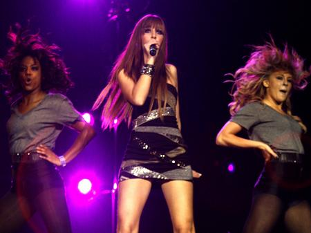 Esmee Denters on stage at the Jingle Bell Ball